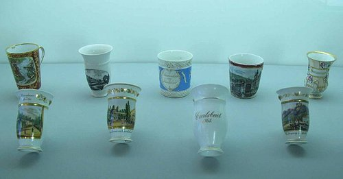 Cups from Carlsbad for drinking mineral water